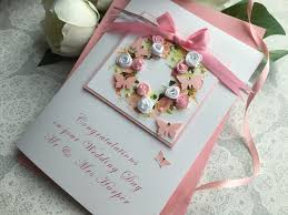 luxury handmade wedding card floral wreath handmade cards