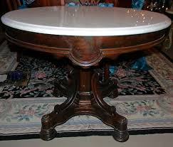 antique marble top pedestal table rosewood victorian rococo center table l table with marble top
