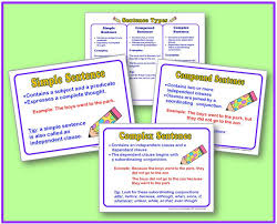 simple compound and complex sentence posters free minds in