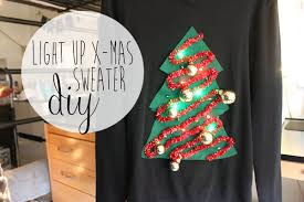 christmas tree sweater with lights diy christmas sweater light up christmas tree youtube