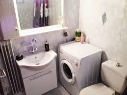 charming small bathroom with laundry space furniture design