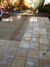 How To Make A Paver Patio Building Paver Patio Howos Diyo Build With Pavers On Concrete