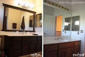 Frame A Bathroom Mirror With Molding Add Molding Around Mirrors Frame Bathroom Mirror With Tile