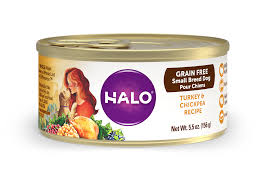 halo small breed grain free turkey and chickpea recipe for dogs
