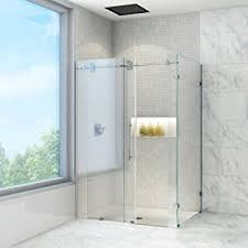 Shower Frameless Glass Door Vigo Winslow 36 X 48 In Frameless Sliding Shower Enclosure With