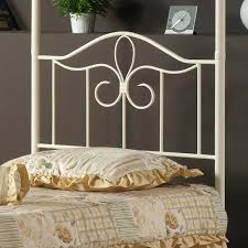 White Canopy Bedroom Set Hillsdale Westfield 4 Piece Metal Canopy Bedroom Set In White