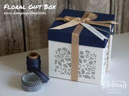 wedding gift boxes uk stin up detailed floral thinlits gift box stin up uk