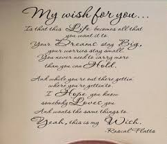 my wish for you vinyl wall decal on luulla