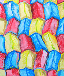 colorful colors three color ridges three light pastel color colorful abstract