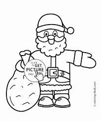 santa clause coloring pages holidays claus page free printable for