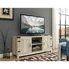 White Oak Furniture Walker Edison Furniture Company 58 In Barn Door Tv Stand With