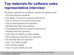 software sales representative interview questions and answers