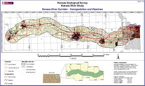 Map Topeka Ks Kgs Kansas River Corridor Geology