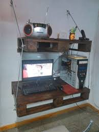 Homemade Wood Computer Desk by 14 Best Pallet Computer Table Images On Pinterest Pallet Desk