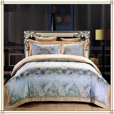 home textiles gold silk duvet cover bed linen silk