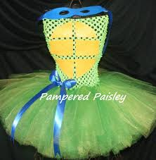 teenage mutant ninja turtles inspired leonardo tutu dress