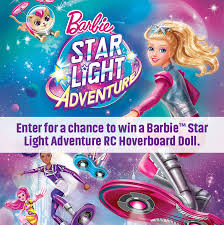 barbie star light adventure enter to win a barbie star light adventure rc hoverboard doll