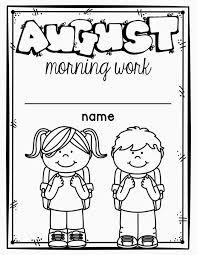 kindergarten morning work miss kindergarten