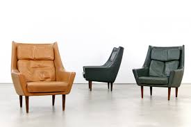 Leather Lounge Chair Vintage Green Leather Lounge Chairs Set Of 2 For Sale