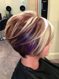 colorful short hair styles great hair colors for short hair purple highlights short hair