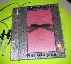 bar mitzvah sign in boards glitter cover sign in book with invitation makes a beautiful