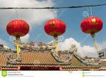 Chinese Paper Lanterns In Chinese New Year, Yaowaraj China Town ...