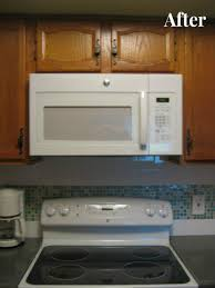how to install over the range microwave without a cabinet retrofitting kitchen for over the range microwave