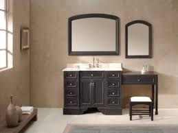 bathroom vanities with makeup table ideas including single sink