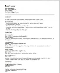 Fitness Instructor Resume Dance Resume Examples Resume Format 2017 Teachers Resume Whether