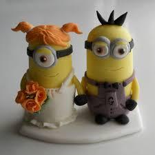 minion wedding cake topper wedding cake topper wedding from plasticsmith on etsy
