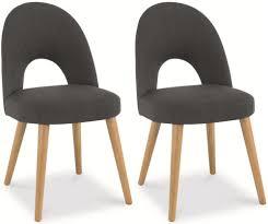 Oak Fabric Dining Chairs Buy Bentley Designs Oslo Oak Dining Chair Steel Fabric