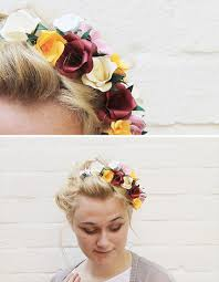 flower hair make this paper flower hair accessory diy paper and stitch