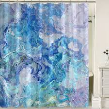 Aqua Blue Shower Curtains Abstract Shower Curtain Aqua Blue Shower Curtain Cloud Nine