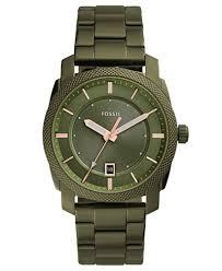 bracelet fossil images Fossil men 39 s machine olive green stainless steel bracelet watch tif
