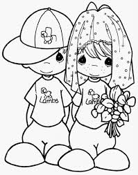 precious moments coloring pages wedding free colouring