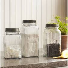glass kitchen canister set kitchen canisters jars you ll wayfair
