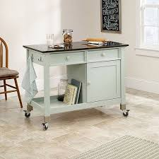sauder kitchen furniture sauder original cottage mobile kitchen island rainwater walmart