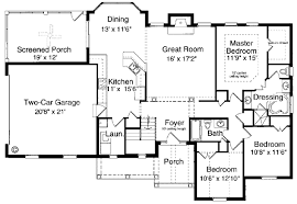 one bungalow house plans house plan 97760 at familyhomeplans com