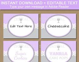 Candy Labels For Candy Buffet by Editable Pink And Purple Candy Buffet Labels Diy Food Labels