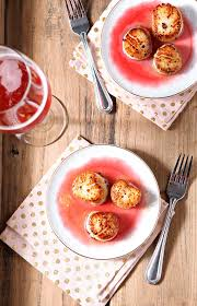 gastrique cuisine seared scallops with raspberry gastrique the speckled palate