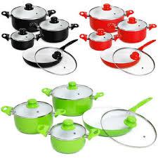 batterie de cuisine ceramique 8pcs batterie de cuisine kit casseroles poêle céramique marmites
