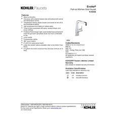 kohler k 6332 cp evoke polished chrome pullout spray kitchen