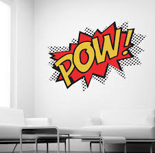 pow wall sticker superhero kids comic art decals k27 ebay please use the dropdown tab at the top of the page to select your colour and size requirements
