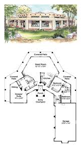 mediterranean santa fe southwest house plan 69773 house plans