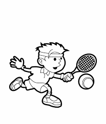 tennis color coloring pages kids sports coloring 18906