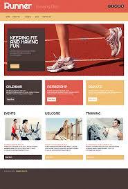 template 42973 running club wordpress theme with intro slideshow