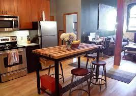 custom built kitchen island white wine racks homcom 44 wooden butcher block kitchen island