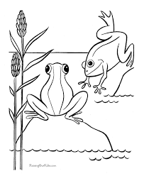 free printable frog coloring pages 007