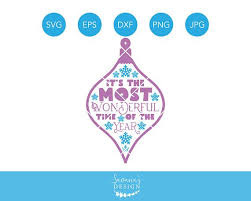 its the most wonderful time of the year svg ornament svg