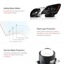 lexus xenon headlight bulb l r black projector xenon